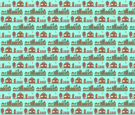 Town and Country fabric by chovy on Spoonflower - custom fabric