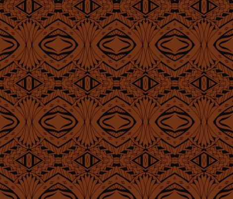 Tiki Tribal Tapa fabric by flyingfish on Spoonflower - custom fabric