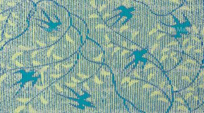 Swallows's Return - teal & light green