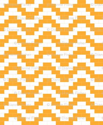 Brick Zigzag - Amber