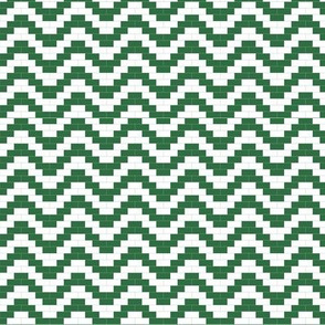 Brick Zigzag -  Forest Green