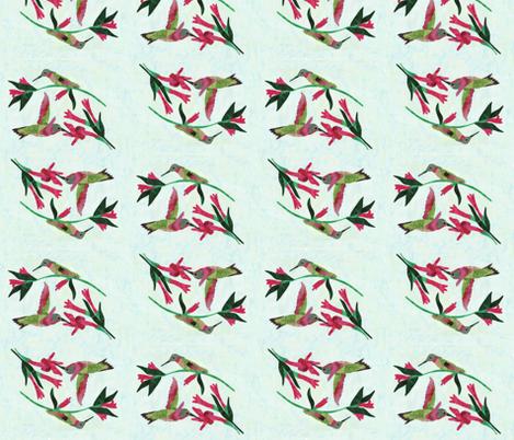 Hummingbirds fabric by pmegio on Spoonflower - custom fabric