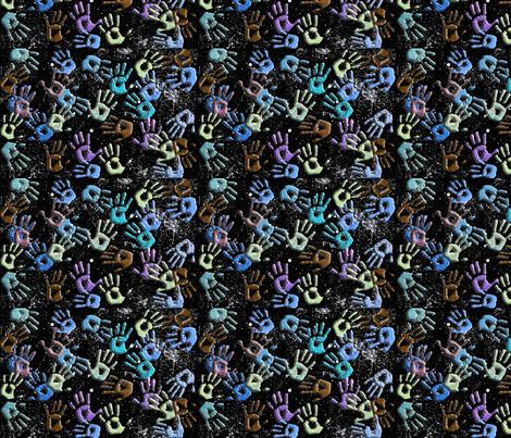 Galaxy Hands fabric by technorican on Spoonflower - custom fabric