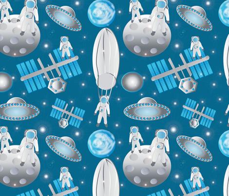 Spacemen featuring Fearless Felix 2 fabric by kociara on Spoonflower - custom fabric