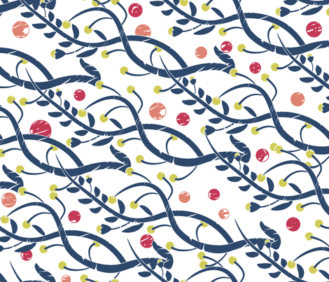 Matisse White fabric by candyjoyce on Spoonflower - custom fabric