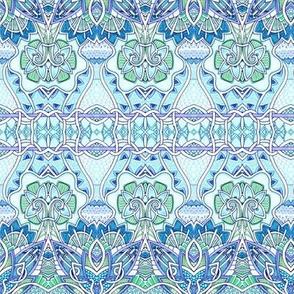 Victorian Blues (horizontal stripe)