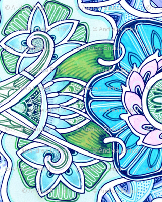 Art Nouveau Blossom Carpet