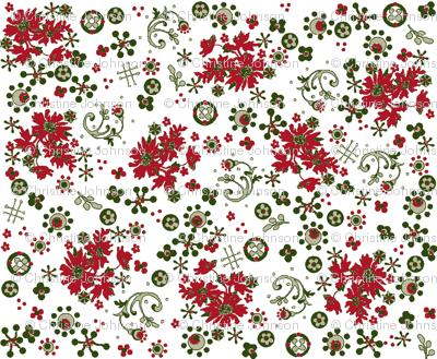 Christmas flora / white