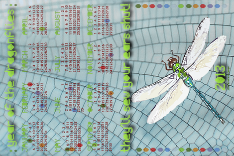 Year of the Dragonflies fabric by juleej on Spoonflower - custom fabric