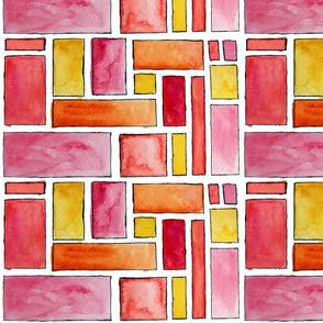 Watercolor Rectangles