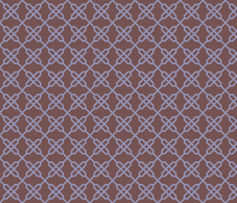 Violet Knot fabric by gabrielle&grete on Spoonflower - custom fabric