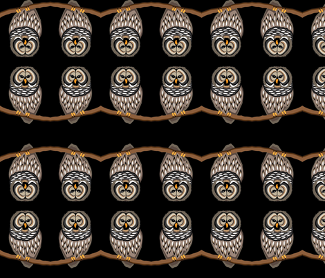 Black Owl fabric by wild_berry on Spoonflower - custom fabric