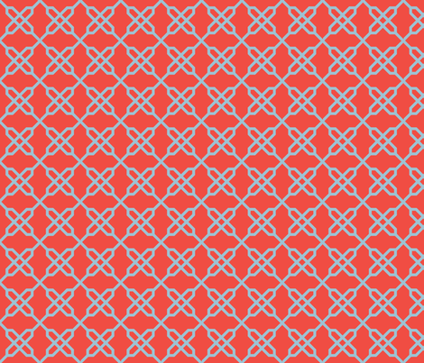 Snowflake Knot fabric by gabrielle&grete on Spoonflower - custom fabric