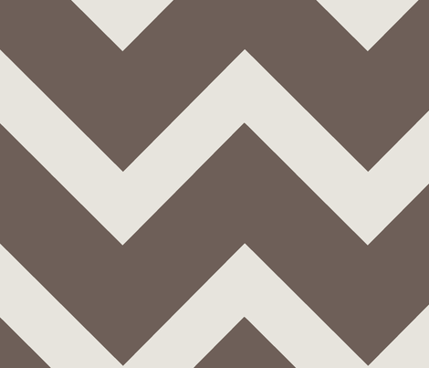 Thick Warm Grey Chevron fabric by zoetdesign on Spoonflower - custom fabric