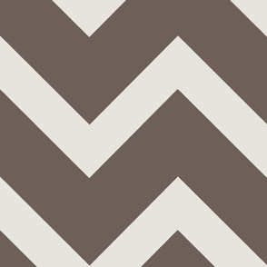 Thick Warm Grey Chevron