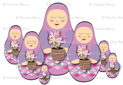 Babushka Doll with Flowers
