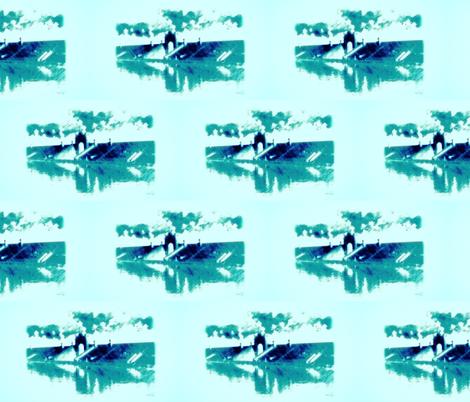 NATATORIUM Teal fabric by waiomaotiki on Spoonflower - custom fabric