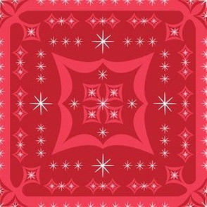 Festive Squares (Red)