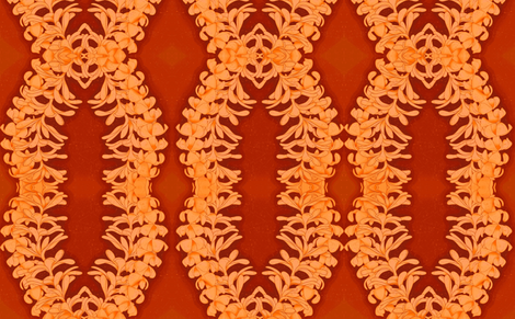 Puakinikini yellow-orange, tiare flower fabric by waiomaotiki on Spoonflower - custom fabric