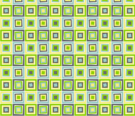 Skewed Cubes Apple fabric by wild_berry on Spoonflower - custom fabric