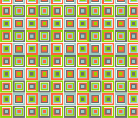 Cubism Melon fabric by wild_berry on Spoonflower - custom fabric