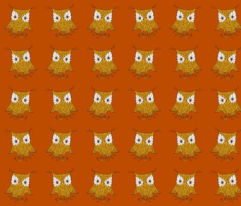 mirrored_owl_fabric fabric by cheeseandchutney on Spoonflower - custom fabric