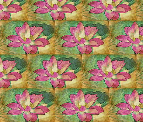 water lily #2 fabric by technorican on Spoonflower - custom fabric