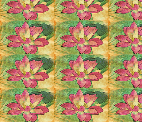 water lily #3 fabric by technorican on Spoonflower - custom fabric