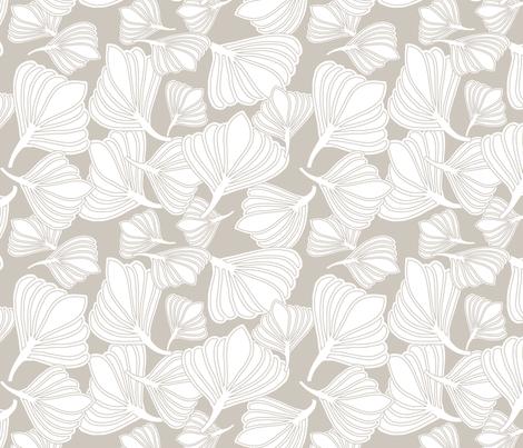 Tulip Seeds Naturals fabric by leeandallandesign on Spoonflower - custom fabric