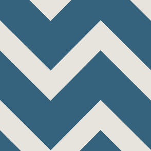 Thick Bright Navy Teal Chevron