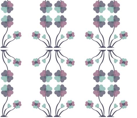 Heartflowers3 fabric by msnina on Spoonflower - custom fabric