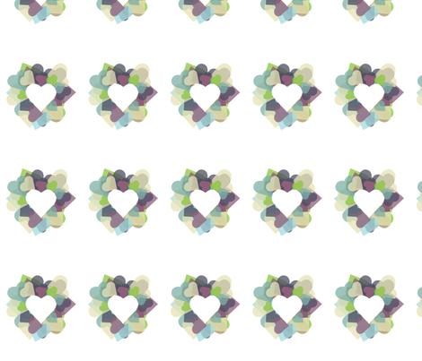 HeartHeart fabric by msnina on Spoonflower - custom fabric