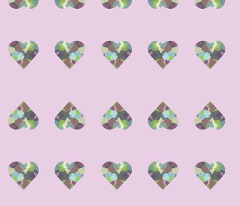 HeartHeart-purple fabric by msnina on Spoonflower - custom fabric