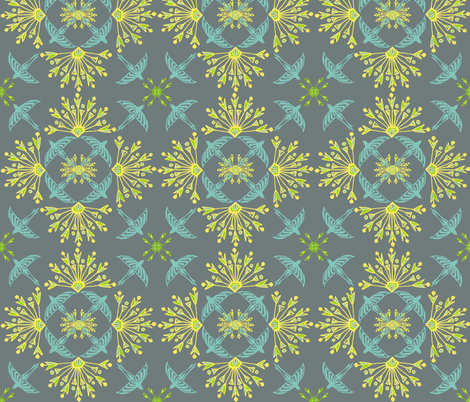 nileflowersFlock3 fabric by atomic_bloom on Spoonflower - custom fabric