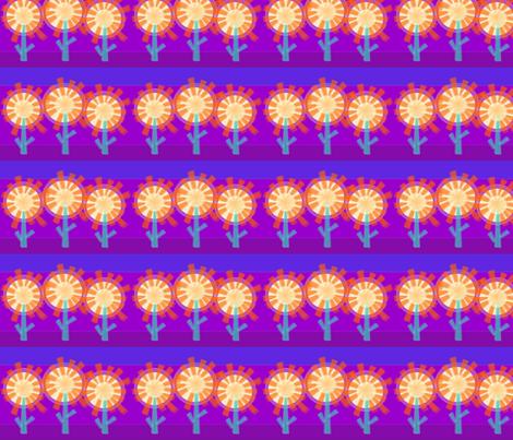 Star Flowers fabric by wild_berry on Spoonflower - custom fabric