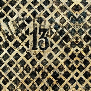 Old French Grain Sack - Thirteen 13
