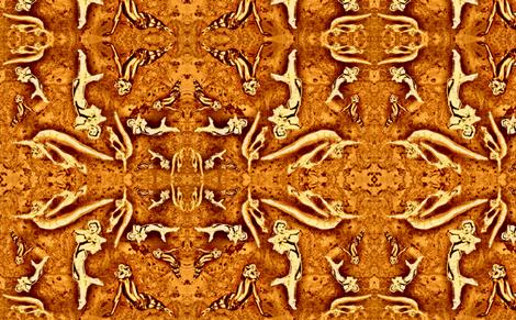 VargaVintage brown cork fabric by waiomaotiki on Spoonflower - custom fabric
