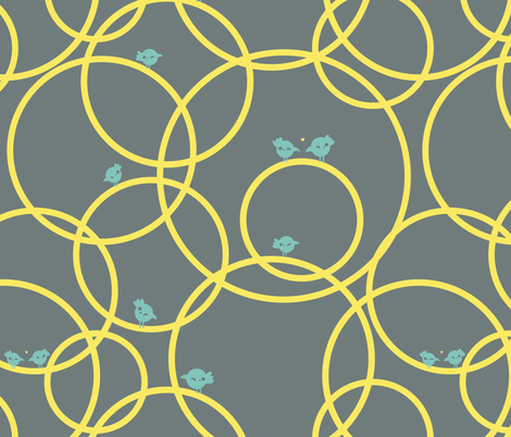 Let the circle be round fabric by verycherry on Spoonflower - custom fabric
