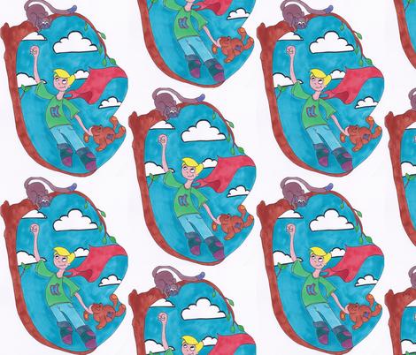 boy_hero fabric by e_louise_ on Spoonflower - custom fabric