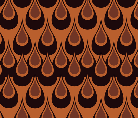 Raindrops-Copper fabric by designertre on Spoonflower - custom fabric