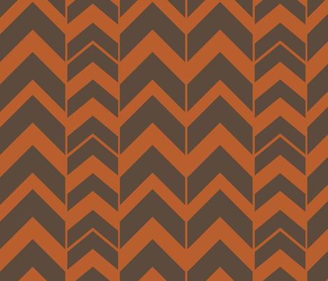 Chevron-Pumpkin fabric by designertre on Spoonflower - custom fabric