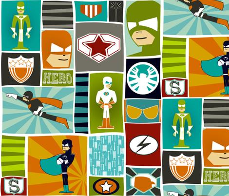 Cool Comic Book Heroes fabric by natitys on Spoonflower - custom fabric