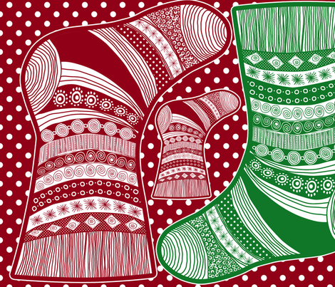 christmass stockings 1 fabric by nadja_petremand on Spoonflower - custom fabric