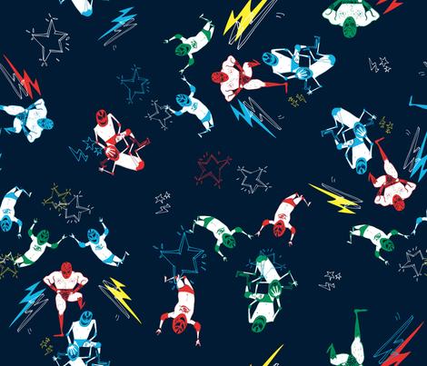 lucha_ok fabric by xingili on Spoonflower - custom fabric