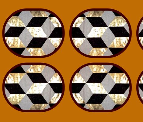 Gold Chevron fabric by nascustomlife on Spoonflower - custom fabric
