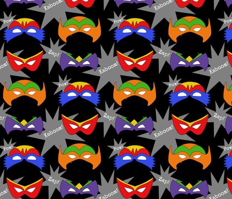 Superhero Masks fabric by chelsdens on Spoonflower - custom fabric