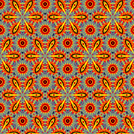 Solar Flare fabric by siya on Spoonflower - custom fabric