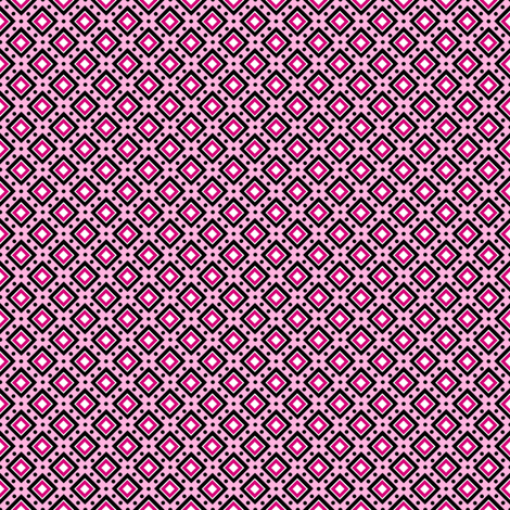 Dotty Boxes - Pink fabric by siya on Spoonflower - custom fabric