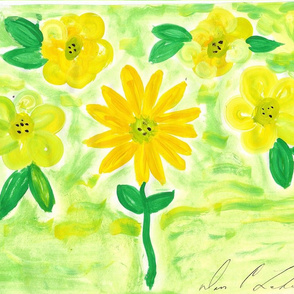 Sun Flowers And Daisy's - Original