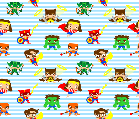 miniheroes fabric by heifix on Spoonflower - custom fabric